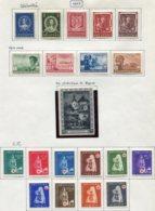 13181 CROATIE Collection Vendue Par Page   N° 95/9, 100/3, 104, 105/14 * 1943  B/TB - Kroatien