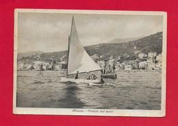 CARTOLINA VG ITALIA - ALASSIO (SV) - Veduta Dal Mare - 10 X 15 - ANN. 1954 - Italia
