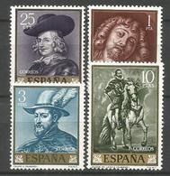 ESPAÑA PINTOR PEDRO PABLO RUBENS ** SERIE COMPLETA SIN FIJASELLOS EDIFIL 1434/7 - 1961-70 Nuevos & Fijasellos