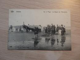 Ostende - Aviation - Sur La Plage - Le Départ De L'Aéroplane - Pilote Crombez - N°1089 - De Graeve - Circulé - 2 Scans - ....-1914: Precursori