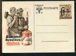 "D.Bes.39/45-Luxemburg / 1941 / Postkarte ""WHW"" Mi. P 9 ** (17250) - Besetzungen 1938-45"