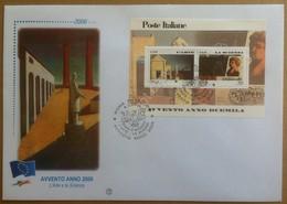 FDC Italia 2000 - Arte E Scienza - Foglietto Avvento Anno 2000 - Francobolli