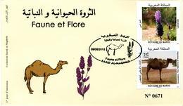 Maroc Y&T N° 1785/6 FDC Faune Et Flore - Marokko (1956-...)