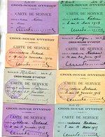 CROIX ROUGE(YVETOT) LOT DE 8 CARTES MINIATURES - Rotes Kreuz