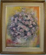 PDGL. 22. HST Du Peintre Espagnole Carlos De Mijas. Bouquet De Fleurs. - Oils