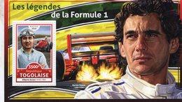 Republique Togolaise  2016  -  Les Légends De La Formule 1  -  Ayrton Senna-Alberto Ascari  -  1v Sheet Neuf/MNH - Cars