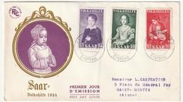 SARRE - FDC - Au Profit Des Oeuvres Populaires - (1954) - FDC