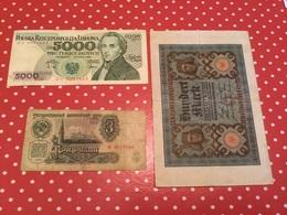 LOT DE 3 BILLETS Voir Le Scan - Monedas & Billetes