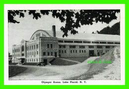 LAKE PLACID, NY - MINI-POSTCARD - OLYMPIC ARENA, LAKE PLACID - ANIMATED WITH OLD CAR - - NY - New York