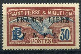 """SAINT PIERRE ET MIQUELON FRANCE LIBRE N°233* FAUX POUR """"REMPLIR"""" UNE CASE - Neufs"""