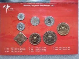 Curacao And Sint Maarten - Netherland Antilles  2011 Year Set : 1 Cent - 5 Gulden , BUNC , In Holder - Antilles Neérlandaises