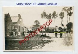 MONTIGNY EN ARROUAISE-Garde-champêtre-ENFANTS-CARTE PHOTO-Periode GUERRE 14-18-1WK-France-02- - Autres Communes