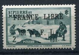"""FAUX POUR """"REMPLIR"""" UNE CASE SAINT PIERRE ET MIQUELON FRANCE LIBRE N°246** - Neufs"""