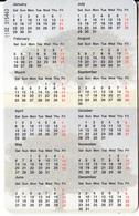 JORDAN - Calendar 2000, 12/99, Used - Phonecards