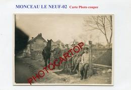 MONCEAU LE NEUF-CARTE PHOTO Allemande Coupee-GUERRE 14-18-1WK-France-02- - Autres Communes