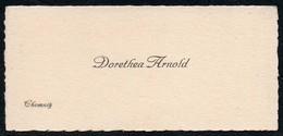 C4953 - Chemnitz - Dorothea Arnold - Visitenkarte - Visitenkarten