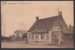 """CPA -  Belgique, ZERKEGHEM / ZERKEGEM,  Kafe """" Romain Maes """" - Jabbeke"""