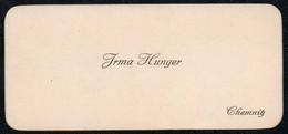 C6045 - Chemnitz - Irma Hunger - Visitenkarte - Visitenkarten