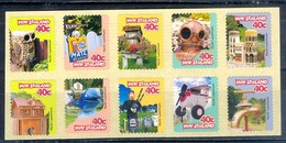 D35- New Zealand 1997 Curious Letterboxes Nesting Box Letter Box. Self Adhesive Strip. - Unused Stamps
