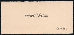 C6046 - Chemnitz - Erhardt Walther - Visitenkarte - Visitenkarten