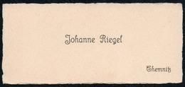 C6047 - Chemnitz - Johanne Riegel - Visitenkarte - Visitenkarten