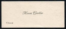 C6048 - Chemnitz - Hanni Giehler - Visitenkarte - Visitenkarten