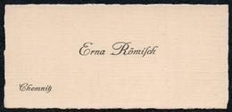 C6049 - Chemnitz - Erna Römisch - Visitenkarte - Visitenkarten