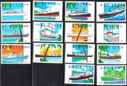 D40- St. Kitts 1990 Ship Definitive Set. - St.Kitts And Nevis ( 1983-...)