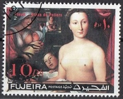 "Fujeira 1971 "" Dama Al Bagno "" Quadro Dipinto Da F. Clouet CTO Manierismo Painting Tableau - Fujeira"
