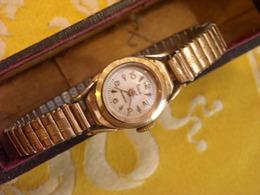 Montre Bracelet Marque VECA Incabloc , Plaqué Or , Avant 1960 , Non Testée - Montres Anciennes