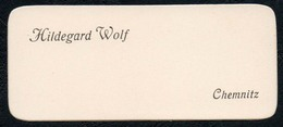 C6053 - Chemnitz - Hildegard Wolf - Visitenkarte - Visitenkarten