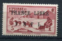"""SAINT PIERRE ET MIQUELON FRANCE LIBRE N°249** FAUX POUR """"REMPLIR"""" UNE CASE - Neufs"""