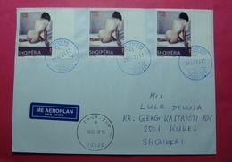 ALBANIA Airmail Cover From SHKODRA To ZHUR (Kosovo) 2017 - Albanien
