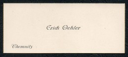 C6054 - Chemnitz - Erich Oehler - Visitenkarte - Visitenkarten