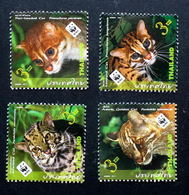 D46- Thailand Stamp 2011 Wild Animal 7th Series - Tigers WWF Logo. - W.W.F.