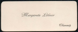 C6060 - Chemnitz - Margarete Löbner - Visitenkarte - Visitenkarten