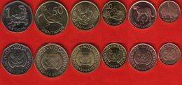 Mozambique Set Of 6 Coins: 1 Centavo - 1 Metical 2006 UNC - Mozambique