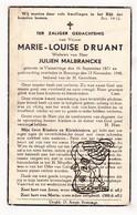 DP Marie Louise Druant ° Vlamertinge 1871 † Boezinge 1948 X Julien Malbrancke / Ieper - Andachtsbilder