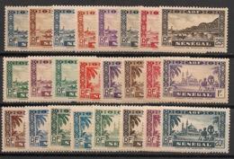 Sénégal - 1935 - N°Yv. 114 à 137 - Série Complète - Neuf Luxe ** / MNH / Postfrisch - Ungebraucht