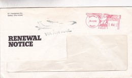 COMMERCIAL ENVELOPE; RENEWAL NOTICE, YEAR 1985 CIRCULEE USA FRANKING MACHINE - BLEUP - Covers & Documents