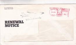 COMMERCIAL ENVELOPE; RENEWAL NOTICE, YEAR 1985 CIRCULEE USA FRANKING MACHINE - BLEUP - Stati Uniti