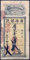 China 1924 Portugal Macao Macau Kwong Yuen Bank $100 Dollars, Original VF - Macau