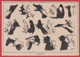Ombromanie. Ombre Chinoise. Illustration Maurice Dessertenne. Larousse 1920. - Vecchi Documenti