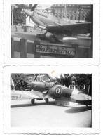 Liège Exposition D'un Avion De La RAF Aviation Militaire Spitfire 1945 Photo 9,5x6,5 - Aviation