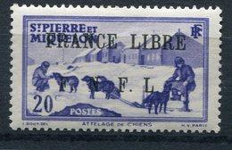 """SAINT PIERRE ET MIQUELON FRANCE LIBRE N°252* FAUX POUR """"REMPLIR"""" UNE CASE - Neufs"""