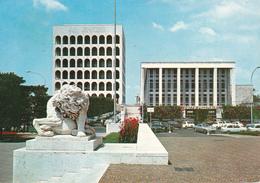 ROMA EUR - PALAZZO DELLA CIVILTA' DEL LAVORO - CAFFE' PALOMBINI - AUTO - 1970 - Roma