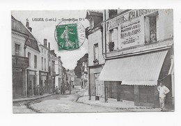 37   LIGUEIL    GRANDE RUE N°   1   ANIMATION   BON ETAT VOIR LES   2 SCANS - Francia