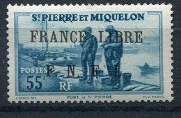 """SAINT PIERRE ET MIQUELON FRANCE LIBRE N°257** FAUX POUR """"REMPLIR"""" UNE CASE - Neufs"""