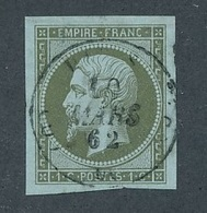 "CV-54: FRANCE: Lot Avec ""NAPOLEON"" N°11obl Margé TTB - 1853-1860 Napoleon III"