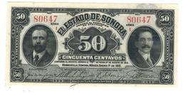 Mexico, ESTADO De SONORA, 50 Centavos, 1915,  UNC. - Mexico